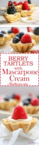 Berry Tartlets with Lemon Mascarpone Cream