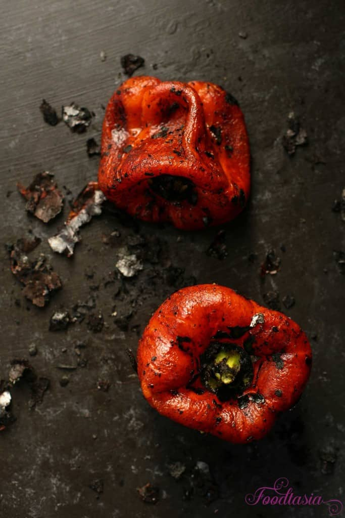 how to roast red peppers 3