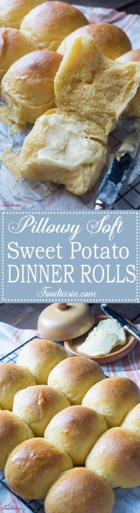 Pillowy Soft Sweet Potato Dinner Rolls