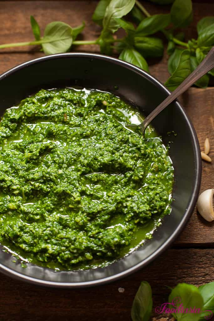 Pesto alla Genovese - Classic Basil Pesto -has been called the most seductive of all sauces for pasta. Vibrant and fragrant, it's bursting with the fresh and sprightly flavors of summer