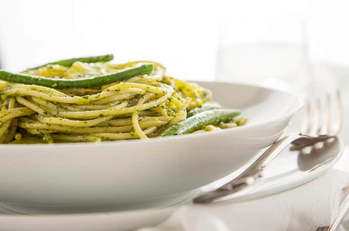 Pasta with Pesto, Green Beans, and Potatoes