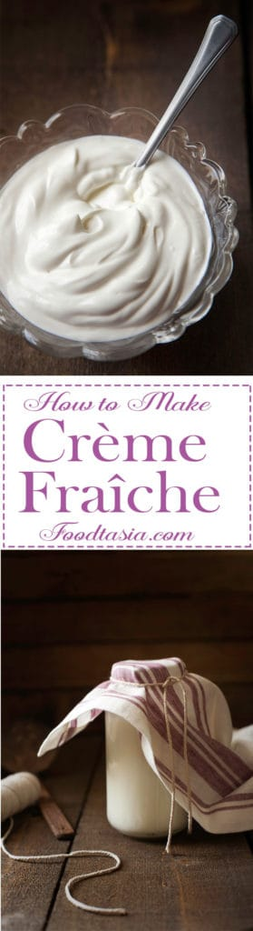 Exquisitely rich and luxuriously smooth with a lush, creamy texture, Crème Fraîche is easy to make at home with only one step and 2 ingredients.