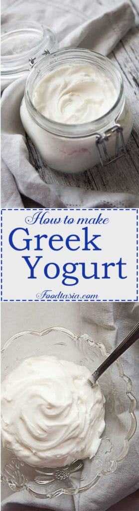 Do you love the thick, creamy, silky smooth texture and luscious, slightly tangy taste of Greek Yogurt but hate paying a premium for it at the supermarket? Making Greek Yogurt at home from regular yogurt is easy and economical.