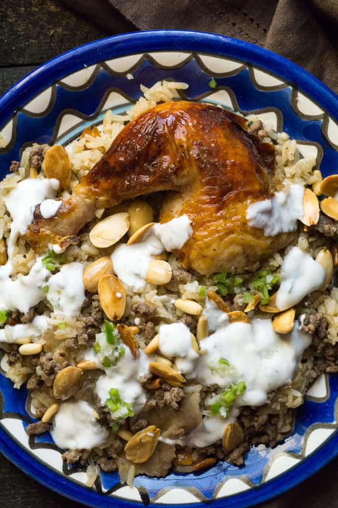 Middle Eastern Chicken And Rice Fattah Foodtasia