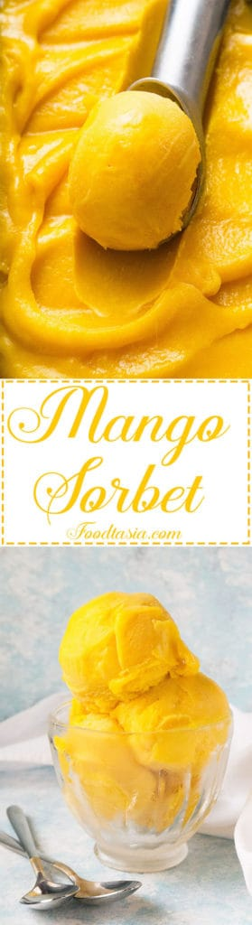 Vibrant and refreshing, Mango Sorbet has a luscious texture - the perfect way to savor the bright, exotic taste of fresh mangoes.
