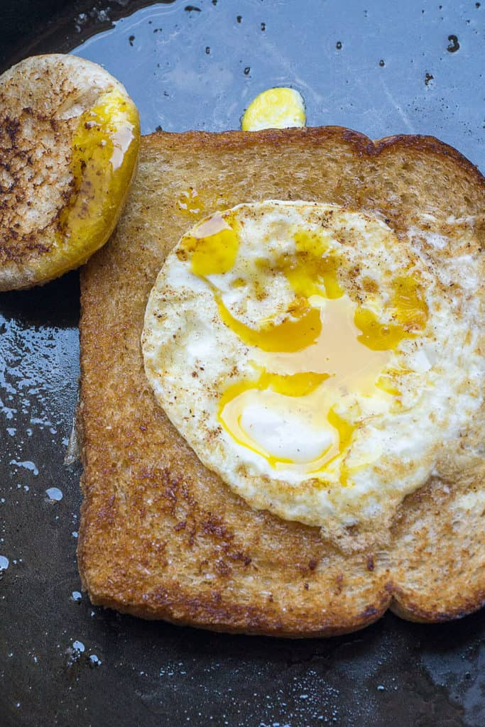 Fun for breakfast! Eggs in a Nest aren't just a cute, whimsical way to cook eggs and toast; somehow they even taste better!