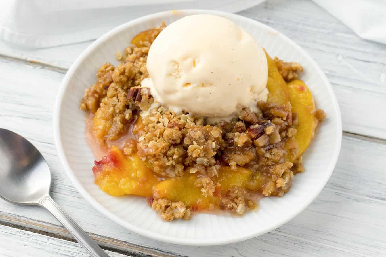 Peach Crisp with a Brown Sugar, Oatmeal, Pecan Crumble ...