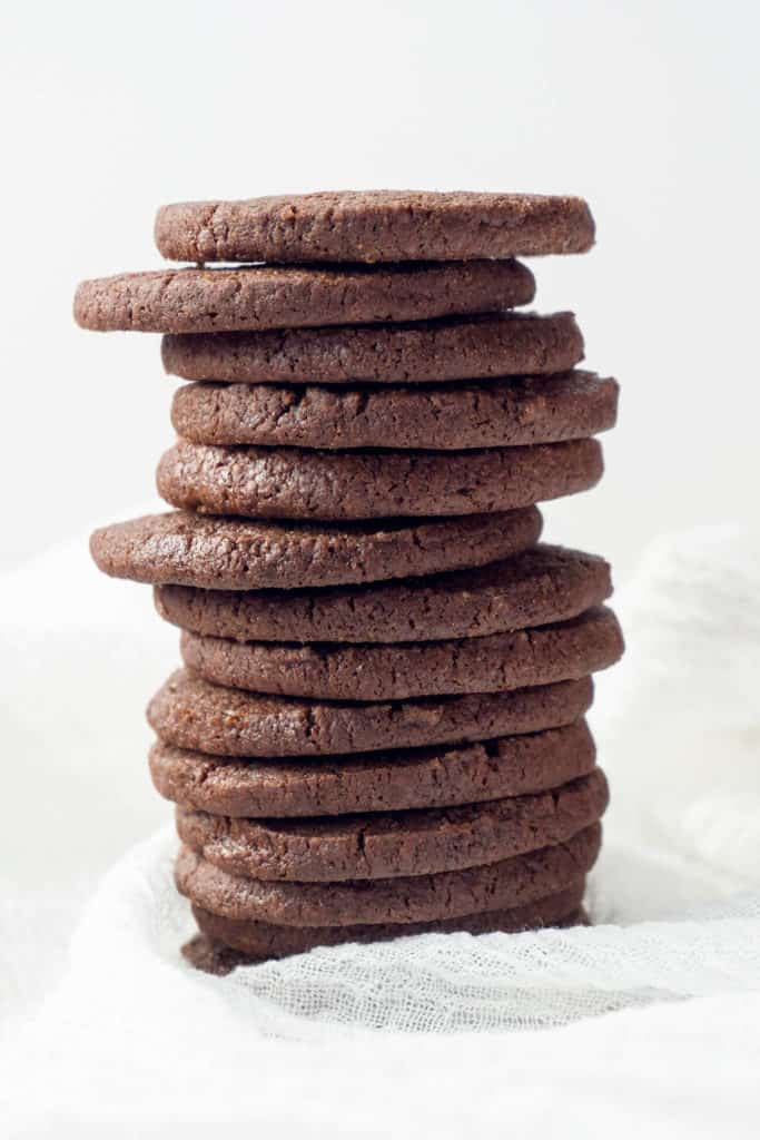 Crisp and chocolatey, but not overly sweet, these Homemade Chocolate Wafers are a copycat of Nabisco Famous Chocolate Wafers but so much better. Essential for chocolate cookie crumb crusts and perfect with a glass of milk or a cup of coffee.