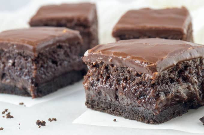 The Ultimate Triple Layer, Fudgy Brownies