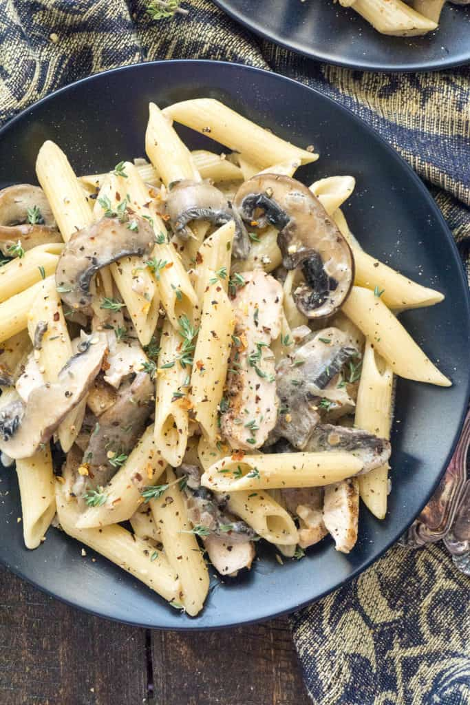 Simple yet elegant, this Creamy Portobello and Mascarpone Pasta makes the perfect quick and easy weeknight dinner.