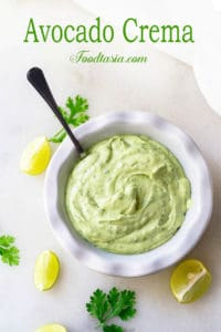 Silky smooth and luxuriously creamy, Avocado Crema provides a rich and cooling contrast to spicy dishes. It's a perfect complement to Mexican and Tex-Mex dishes such as quesadillas, tacos, nachos, and burrito bowls. It can also be used on salads and as a dipping sauce.
