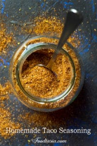 The BEST Homemade Taco Seasoning with the perfect balance of flavors. So quick and easy to make with spices you probably already have in your cupboard. You'll never want to buy prepackaged taco seasoning again!