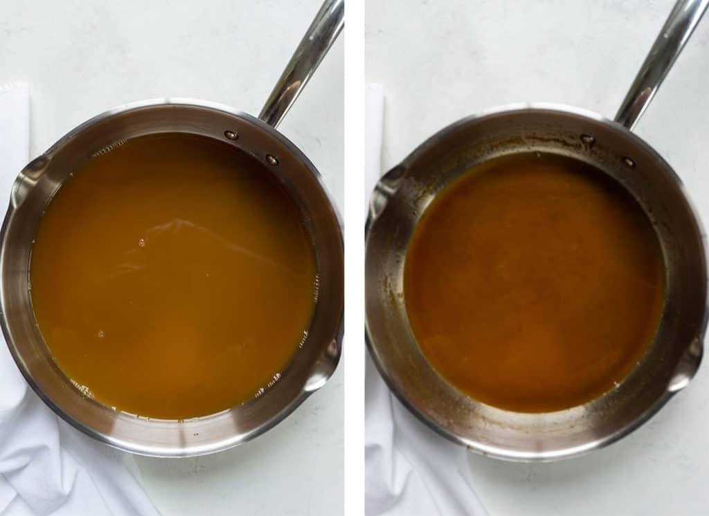 Apple Cider Cake With Caramel Glaze