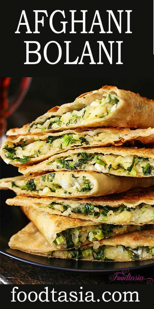 Homemade dough is stuffed with potatoes, green onion, cilantro, and green pepper then shallow fried to crispy, golden brown perfection!  #flatbread #recipes #middleeastern #middleeasternfood #middleeasternrecipe #appetizerrecipes #appetizers