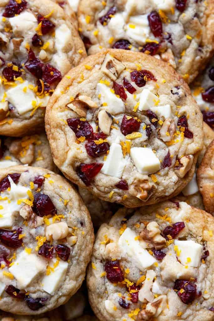 With crisp, caramelized edges and rich, chewy centers, these White Chocolate Cranberry Cookies are irresistible!