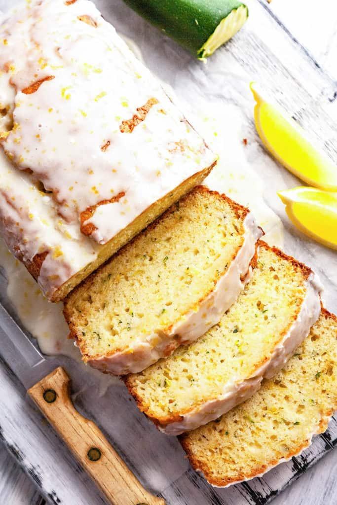 double glazed lemon zucchini bread  foodtasia