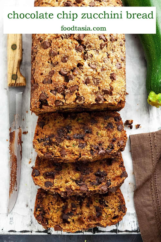 chocolate chip zucchini bread  foodtasia