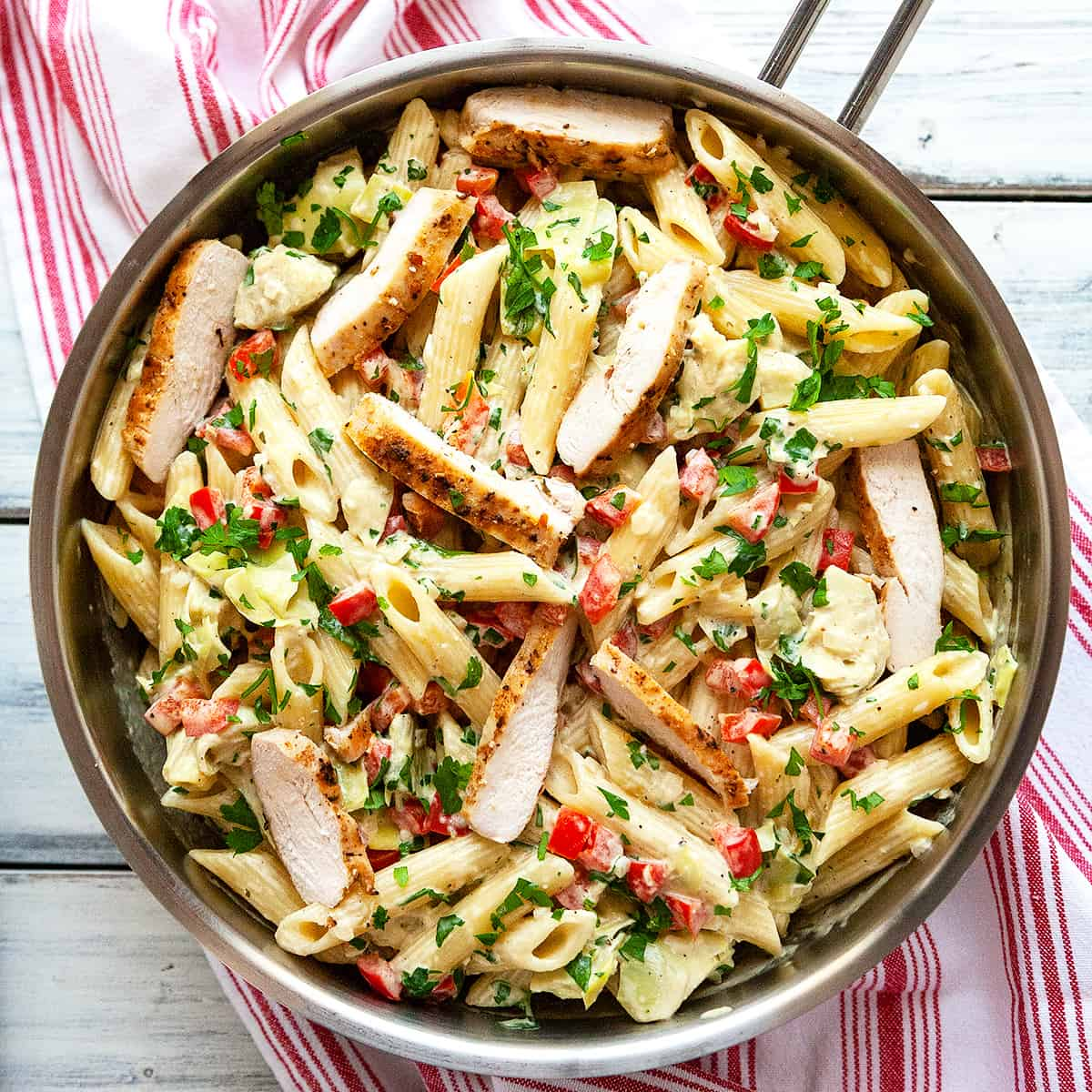 Artichoke Chicken Pasta Recipe: Lemon Artichoke Pasta With Chicken