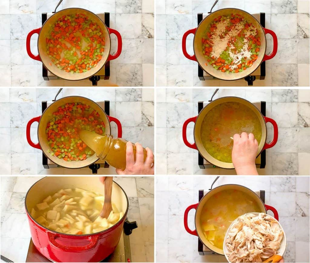 Old-fashioned Chicken and Dumplings - soft, pillowy dumplings and tender chicken in a rich, flavorful broth. With both made from scratch and quick and easy versions. Truly comfort food at its finest!