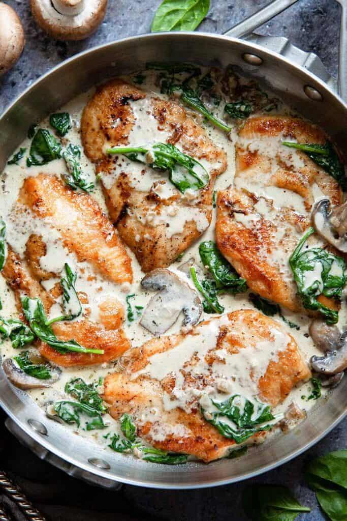 pan with Chicken Florentine