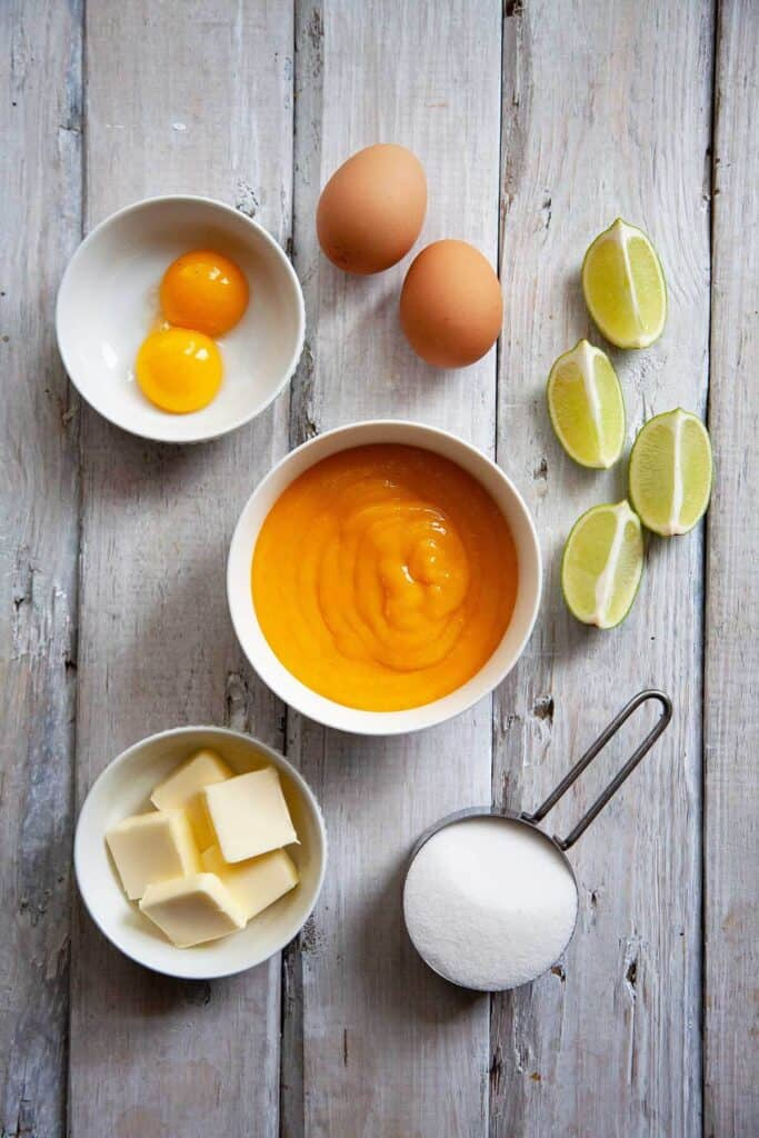 ingredients for mango cheesecake