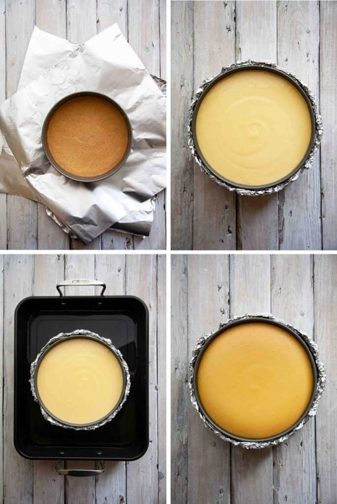 baking mango cheesecake step by step