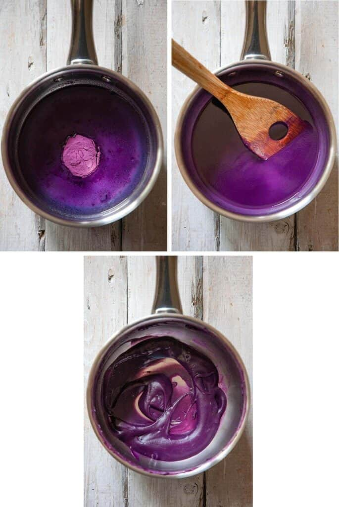 how to rehydrate ube powder to make ube paste