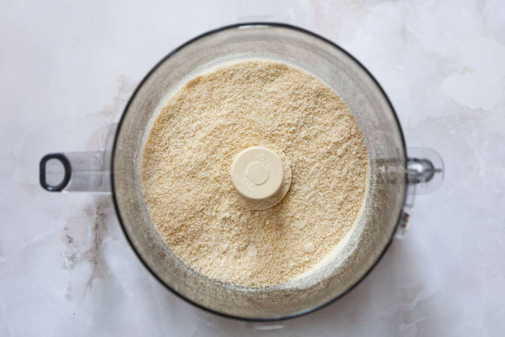 how to make almond paste step by step: finely ground almonds