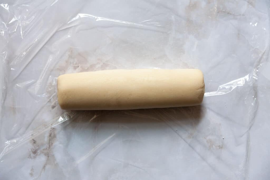 a log of almond paste